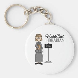 Librarian Gift Basic Round Button Keychain