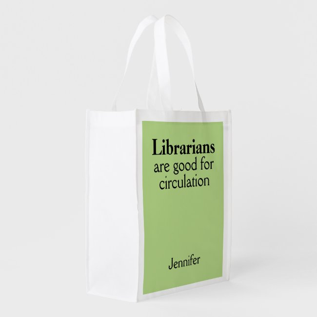 Librarian Gift Circulation Name Bag Choose a Color