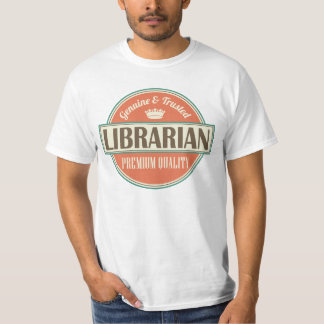 Librarian Gift Vintage Job Logo Mens T-shirt