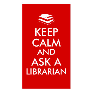 Librarian Gifts Keep Calm Ask a Librarian Custom Double-Sided Standard Business Cards (Pack Of 100)