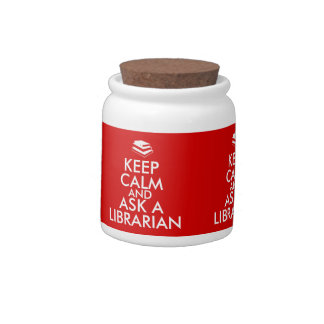 Librarian Gifts Keep Calm Ask a Librarian Custom Candy Dishes