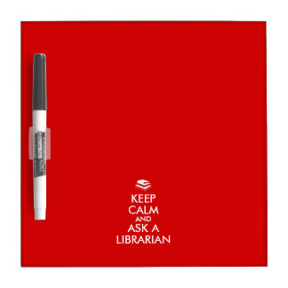 Librarian Gifts Keep Calm Ask a Librarian Custom Dry Erase Board