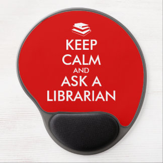 Librarian Gifts Keep Calm Ask a Librarian Custom Gel Mouse Mats