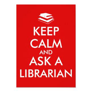 Librarian Gifts Keep Calm Ask a Librarian Custom Custom Announcement