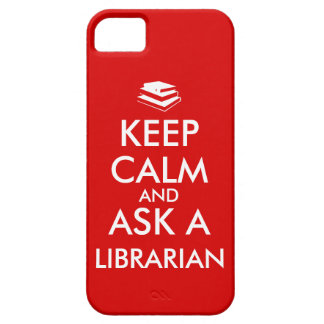Librarian Gifts Keep Calm Ask a Librarian Custom iPhone SE/5/5s Case