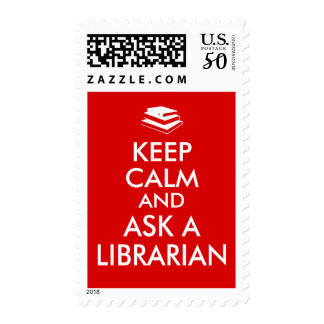 Librarian Gifts Keep Calm Ask a Librarian Custom Postage