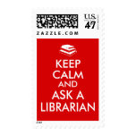 Librarian Gifts Keep Calm Ask a Librarian Custom Stamp