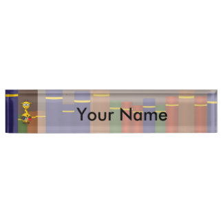 Librarian Giraffe Desk Name Plate