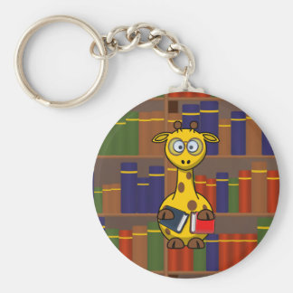 Librarian Giraffe Key Chain