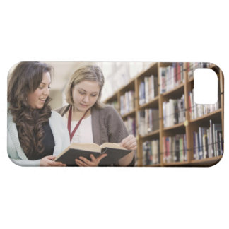Librarian helping student with research in iPhone SE/5/5s case