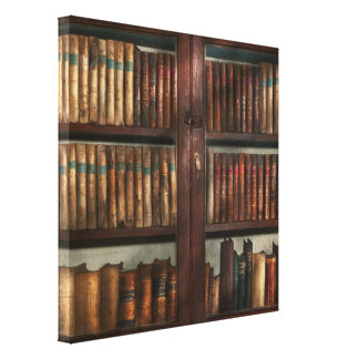 Librarian - In the library Canvas Print