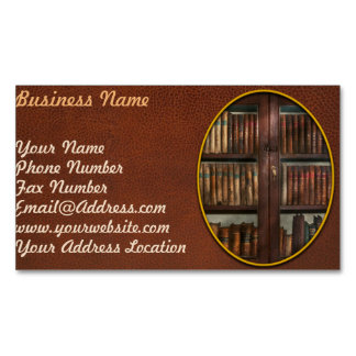 Librarian - In the library Magnetic Business Card