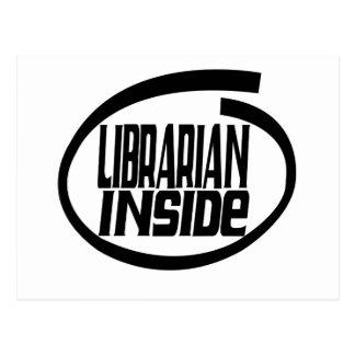 Librarian Inside Postcard
