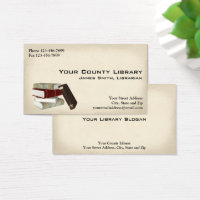 Librarian business cards templates zazzle librarian library business card colourmoves