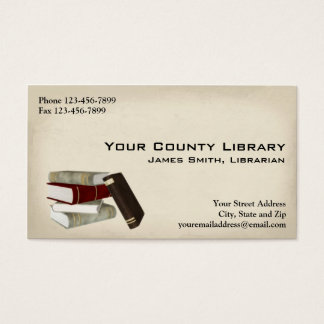 Librarian Library Business Card