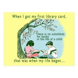 Librarian Library Postcard