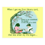Librarian Library Postcards