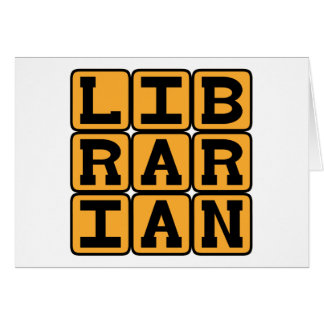 Librarian, Master of Books Cards