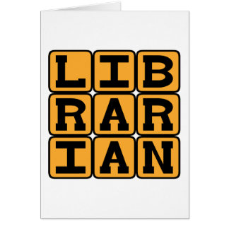 Librarian, Master of Books Card