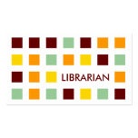 LIBRARIAN (mod squares) Double-Sided Standard Business Cards (Pack Of 100)