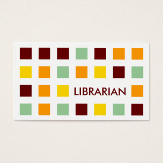 LIBRARIAN (mod squares) Business Card