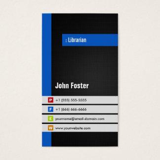 Librarian - Modern Stylish Blue Business Card