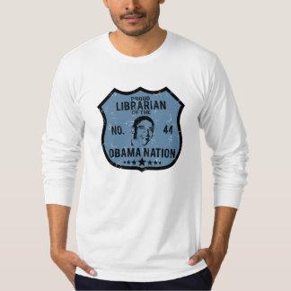 Librarian Obama Nation T Shirt