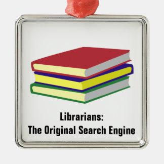 Librarian Original Metal Ornament