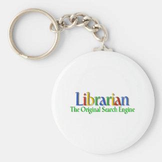 Librarian Original Search Engine Basic Round Button Keychain