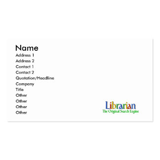 Librarian Original Search Engine Business Card