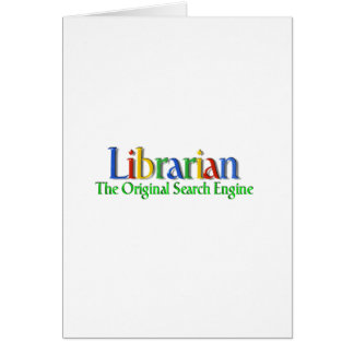 Librarian Original Search Engine Greeting Card