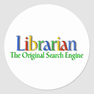 Librarian Original Search Engine Classic Round Sticker