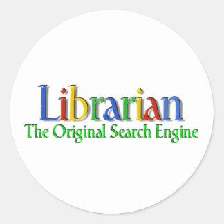 Librarian Original Search Engine Classic Round Sticker