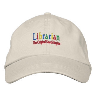 Librarian Original Search Engine Embroidered Baseball Hat
