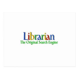 Librarian Original Search Engine Postcard