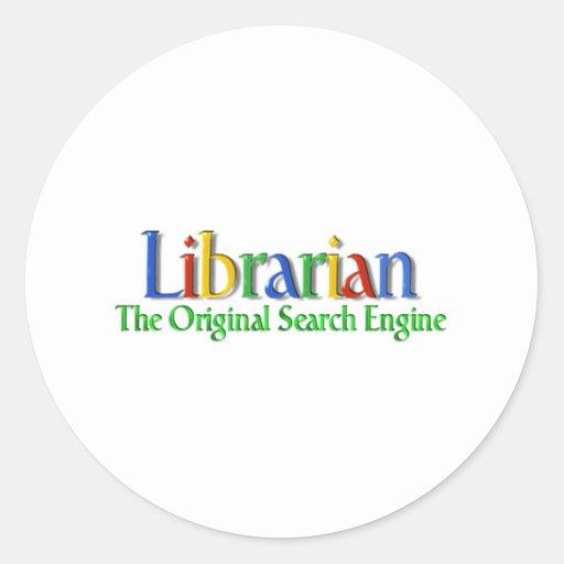 Librarian Original Search Engine Round Stickers