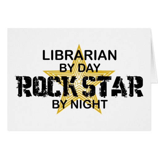 Librarian Rock Star by Night Greeting Card
