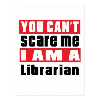 Librarian scare designs postcard