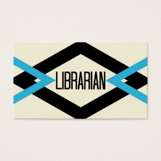 Librarian Trendy Business Card