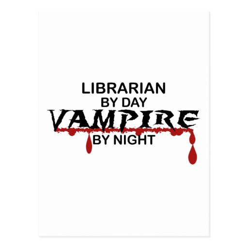 Librarian Vampire by Night Post Card