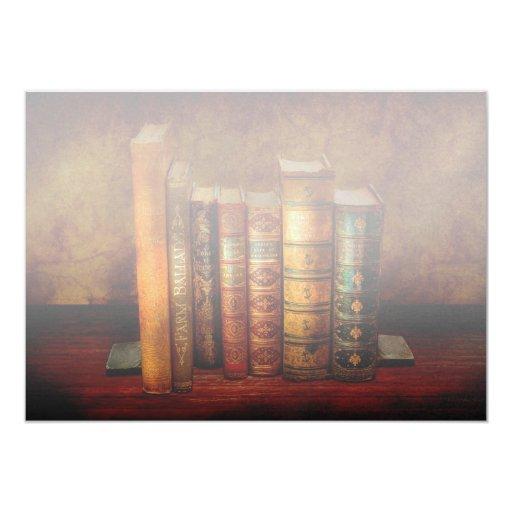 "Librarian - Writer - Antiquarian books 5"" X 7"" Invitation Card"
