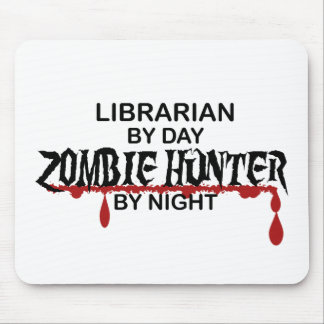 Librarian Zombie Hunter Mouse Pad