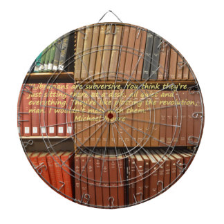 Librarians are Subversive Quote by Michael Moore Dartboards