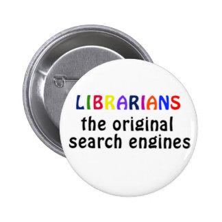 Librarians badge pinback button