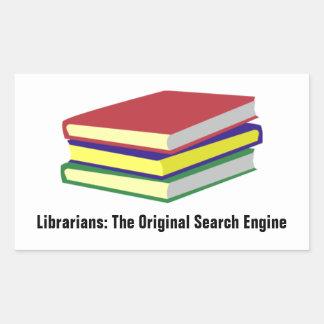 Librarians (customizable) rectangular sticker