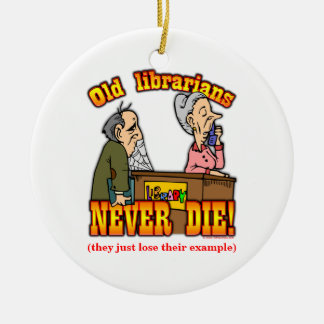 Librarians Double-Sided Ceramic Round Christmas Ornament
