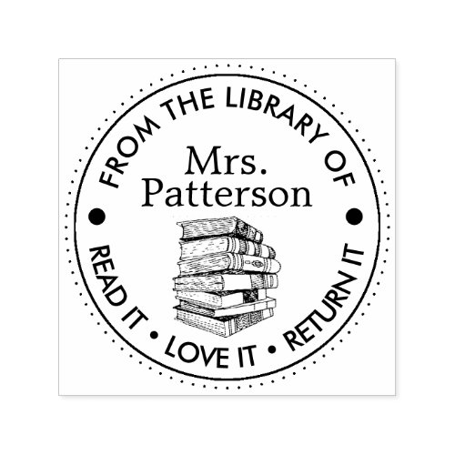 Librarians Read It Love It Return It Personalized Self_inking Stamp