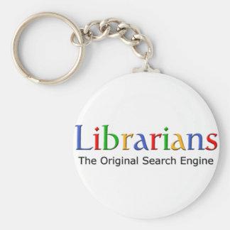Librarians - The Original Search Engine Basic Round Button Keychain