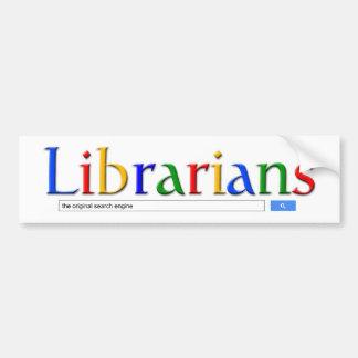 librarians the original search engine bumper sticker