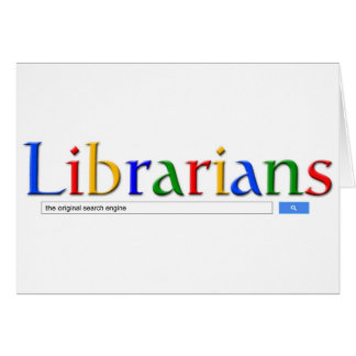 librarians the original search engine greeting card